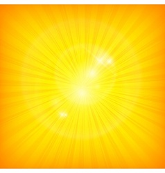 Sunburst background in yellow vector