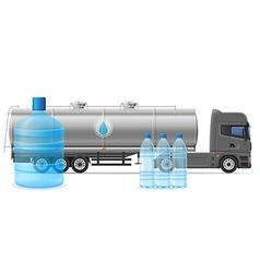 Truck semi trailer concept 04 vector