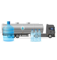 truck semi trailer concept 04 vector image vector image