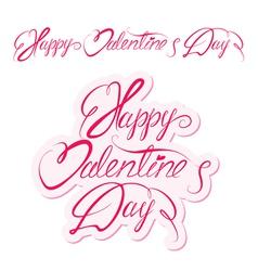 Valentine day calligr 3 380 vector