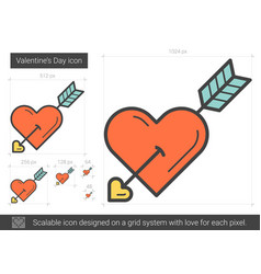 valentine day line icon vector image