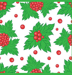 viburnum pattern vector image vector image