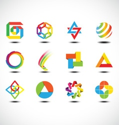 Business abstract icons vector