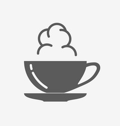Coffe or tea cup with steam cloud icon vector