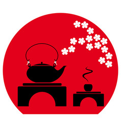 Tea ceremony in japanese chinese style vector