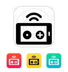 Phone remote controller icon vector