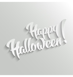 Happy halloween- lettering greeting card vector