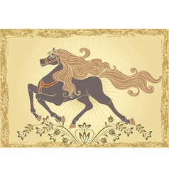 Traditional horse vector