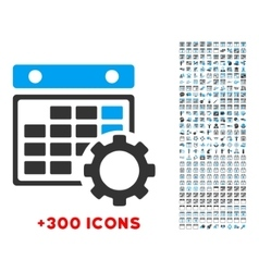 Calendar configuration icon vector