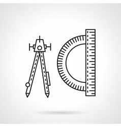 Technical tools flat line icon vector