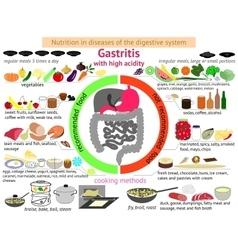 Infographics proper nutrition gastritis vector