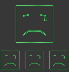Green squared cry logo design set vector