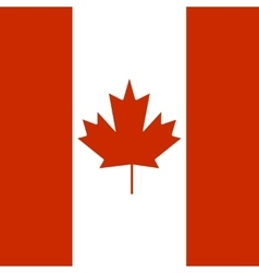 State flag of canada vector