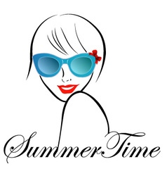 Lady with style for summer time vector