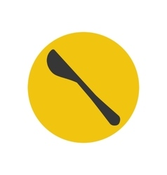 Butter knife silhouette vector