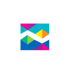 abstract geometry triangle color logo vector image