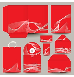 abstract pattern CD and packaging vector image