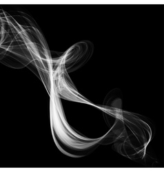 Abstract smoke isolated on black vector
