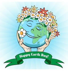 April 22 Earth Day Card vector image