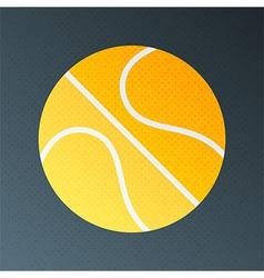 Basketball halftone stylized vector image vector image