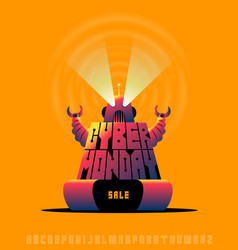 cyber monday sale poster concept vector image vector image