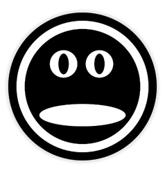 Face circle button vector image vector image