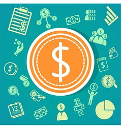 Finance icons background vector image