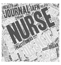 Forensic nursing journals word cloud concept vector
