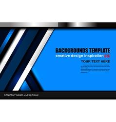 Geometric blue background design vector