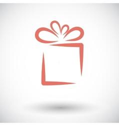 Gift box vector image vector image