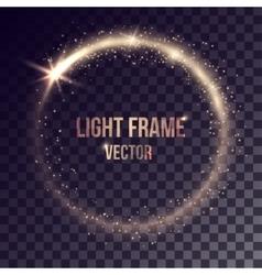 Golden light frame vector