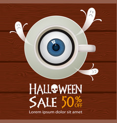 Halloween sale offer poster design concept vector