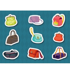 Handbag stickers vector
