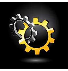 Interlocking gears vector