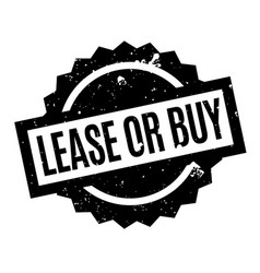 Lease or buy rubber stamp vector