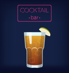 Longisland iced tea cocktail vector