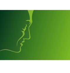 man profile green vector image