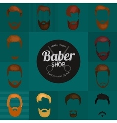 Mans trendy haircut types for barber shop vector