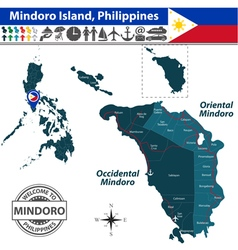 Map of mindoro island vector