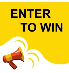 Megaphone with enter to win announcement flat vector