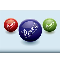 modern concept with colourful pearls with copyspac vector image vector image