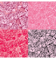 peony seamless 380 vector image vector image