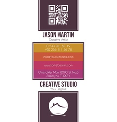 Real estate building business card vector image