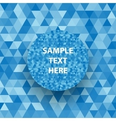 Retro triangle geometric pattern for mosaic banner vector image vector image