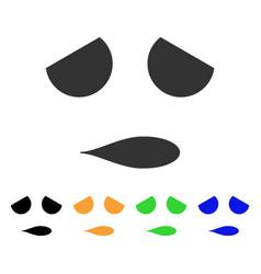 sad emoticon smile icon vector image