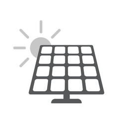 Solar energy panel flat web icon vector