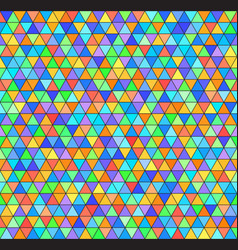 triangle rainbow pattern seamless colorful vector image vector image