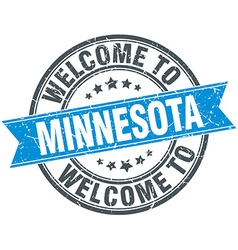 Welcome to minnesota blue round vintage stamp vector
