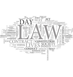 What does the law mean to you text word cloud vector