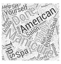 Whats an american manicure word cloud concept vector